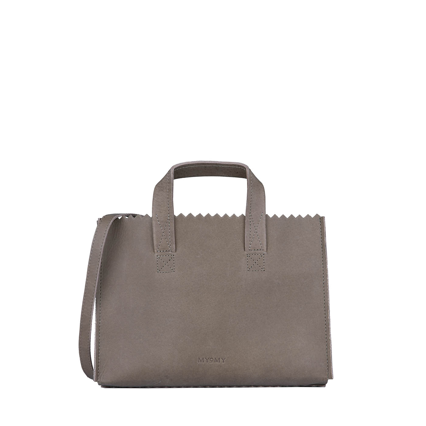 MY PAPER BAG Mini handbag cross-body – hunter taupe
