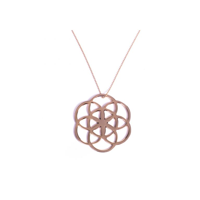 Flower of life collier - shiny gold
