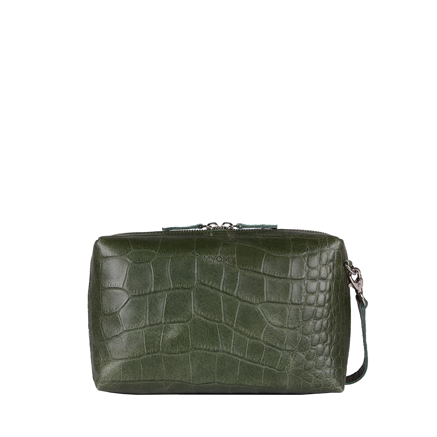 MY BOXY BAG Handbag – croco vetiver green