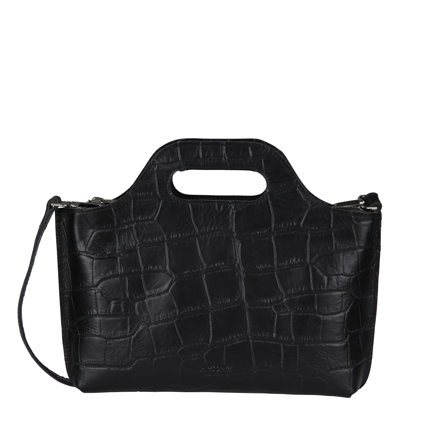 MY CARRY BAG Mini - croco black