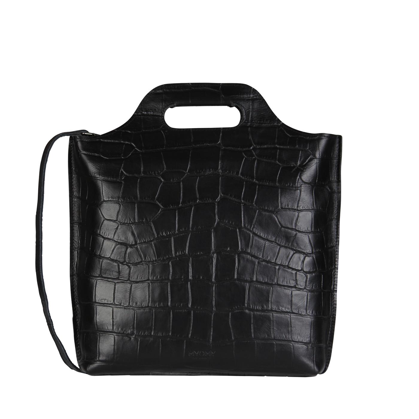 MY CARRY BAG shopper medium- croco black