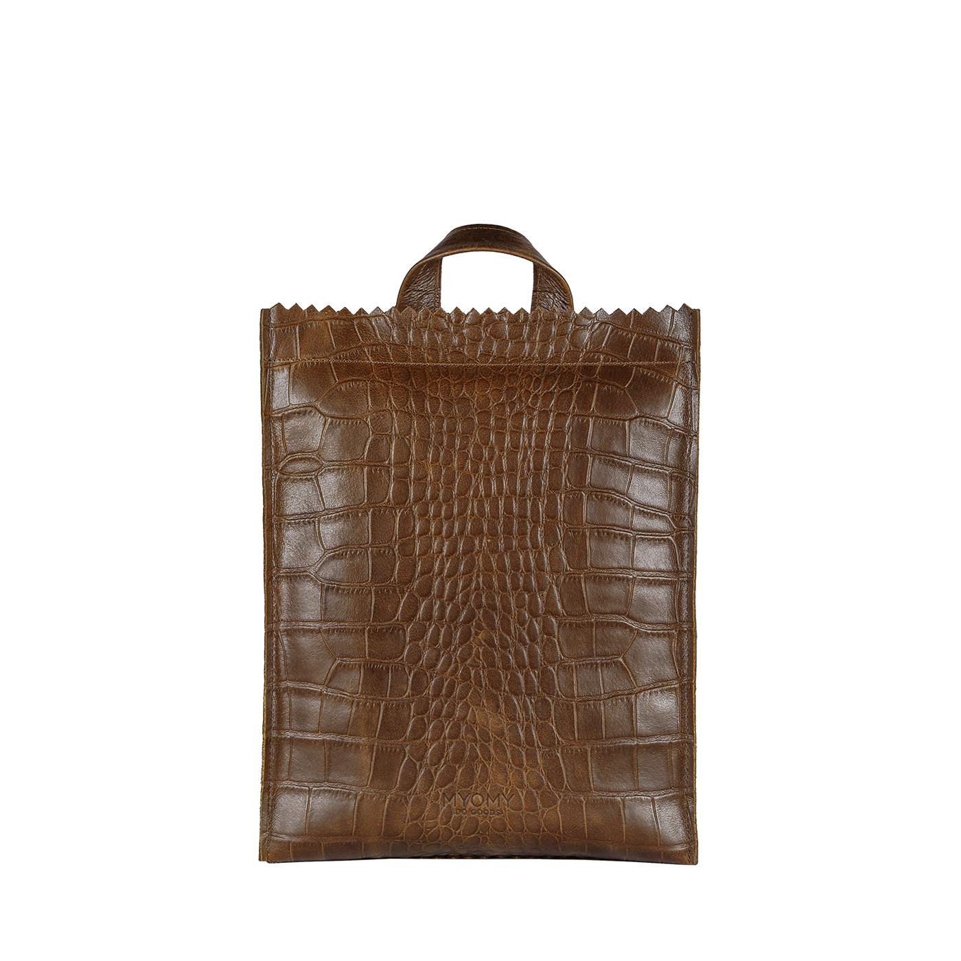 MY PAPER BAG Backbag medium - croco original