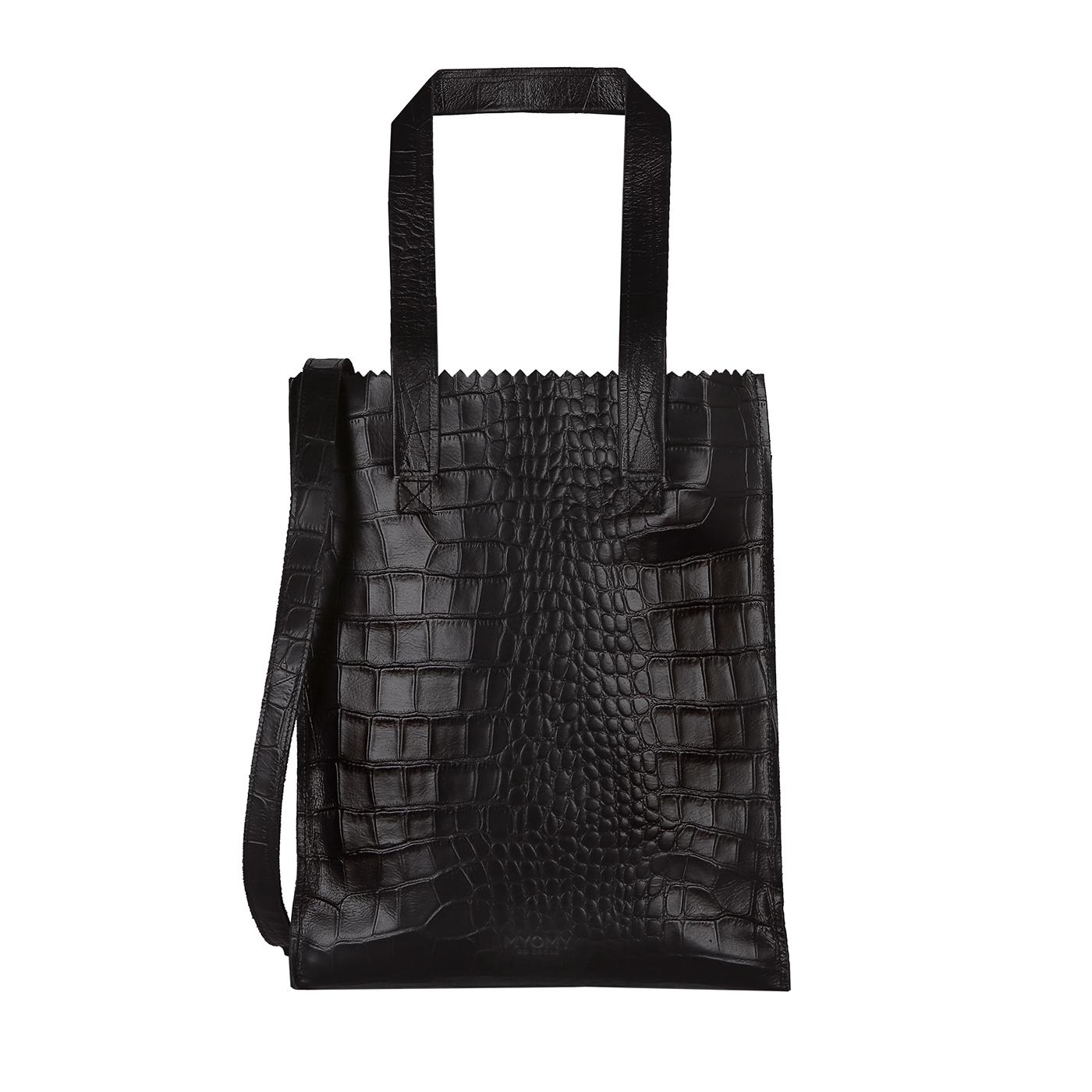 MY PAPER BAG Deluxe office - croco black