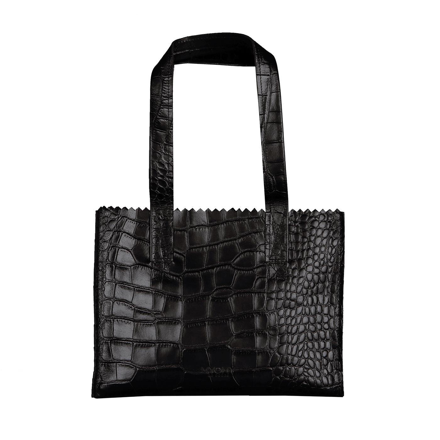 MY PAPER BAG Handbag - croco black