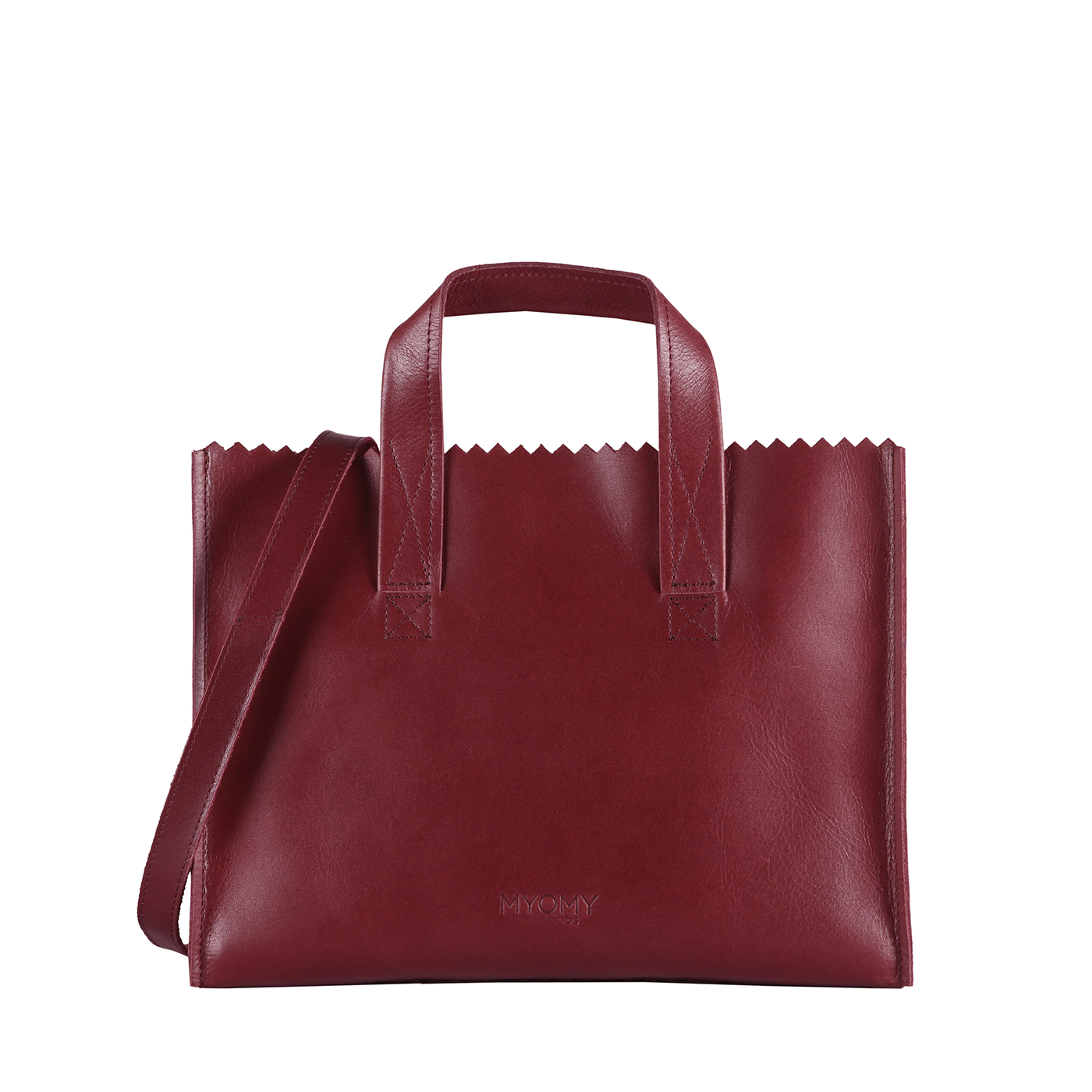 MY PAPER BAG Handbag cross-body - hunter waxy burgundy