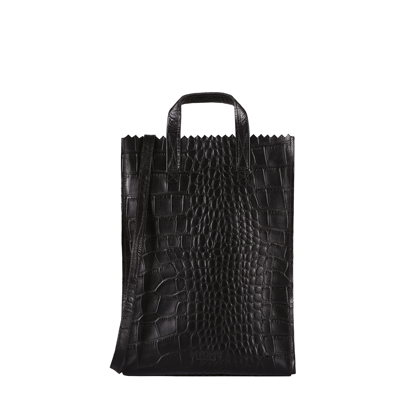 MY PAPER BAG Handy short handle - croco black