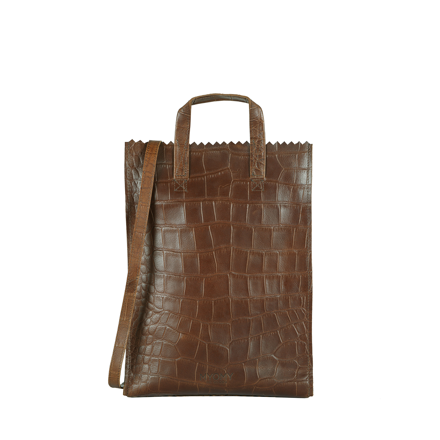 MY PAPER BAG Handy short handle - croco original