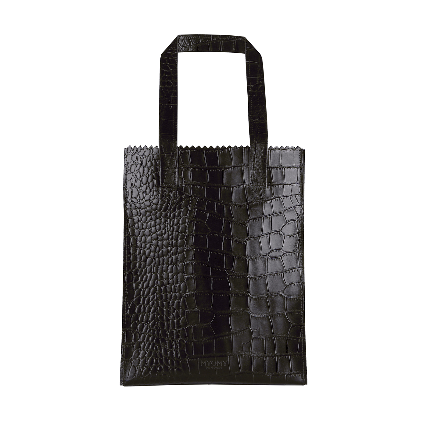 MY PAPER BAG Long handle zip – croco black