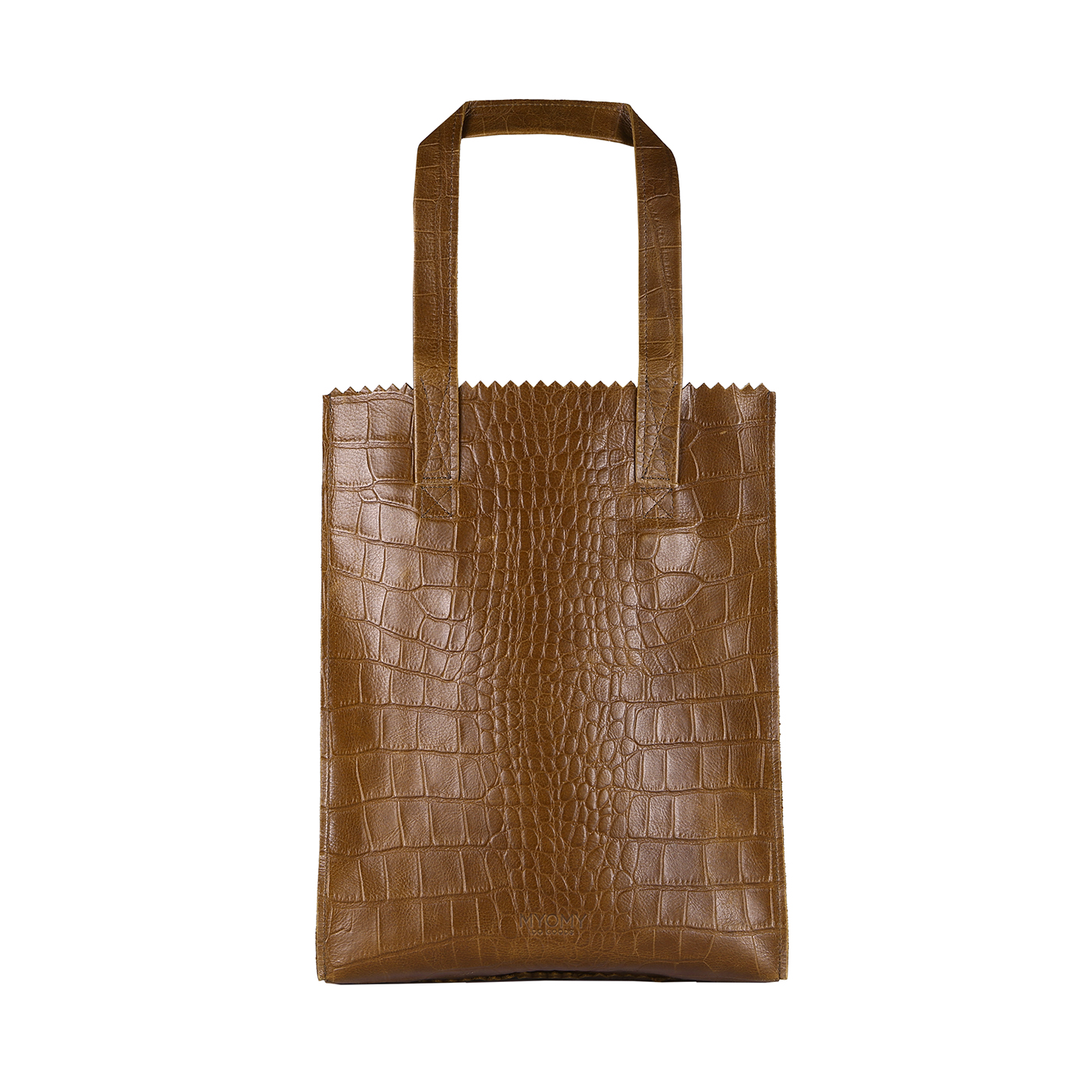 MY PAPER BAG Long handle zip – croco original