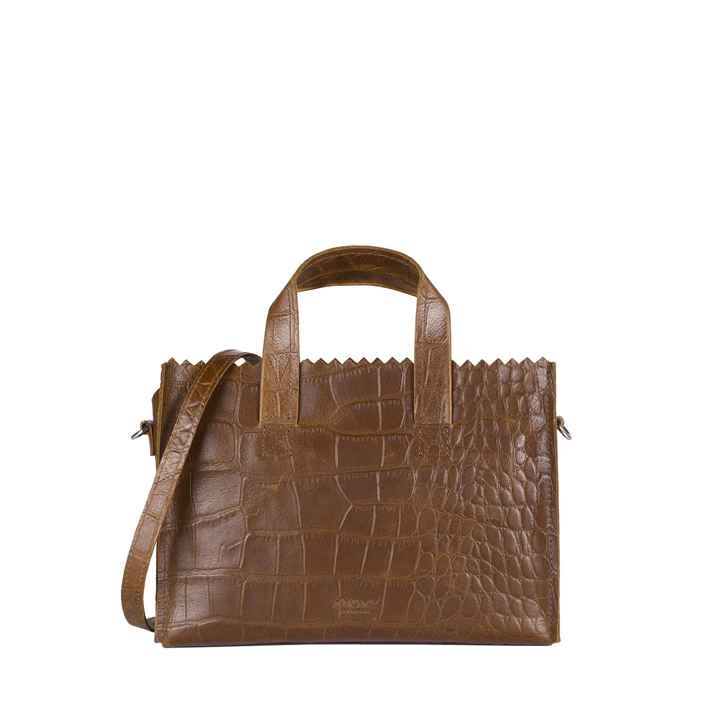 MY PAPER BAG Mini handbag cross-body - croco original