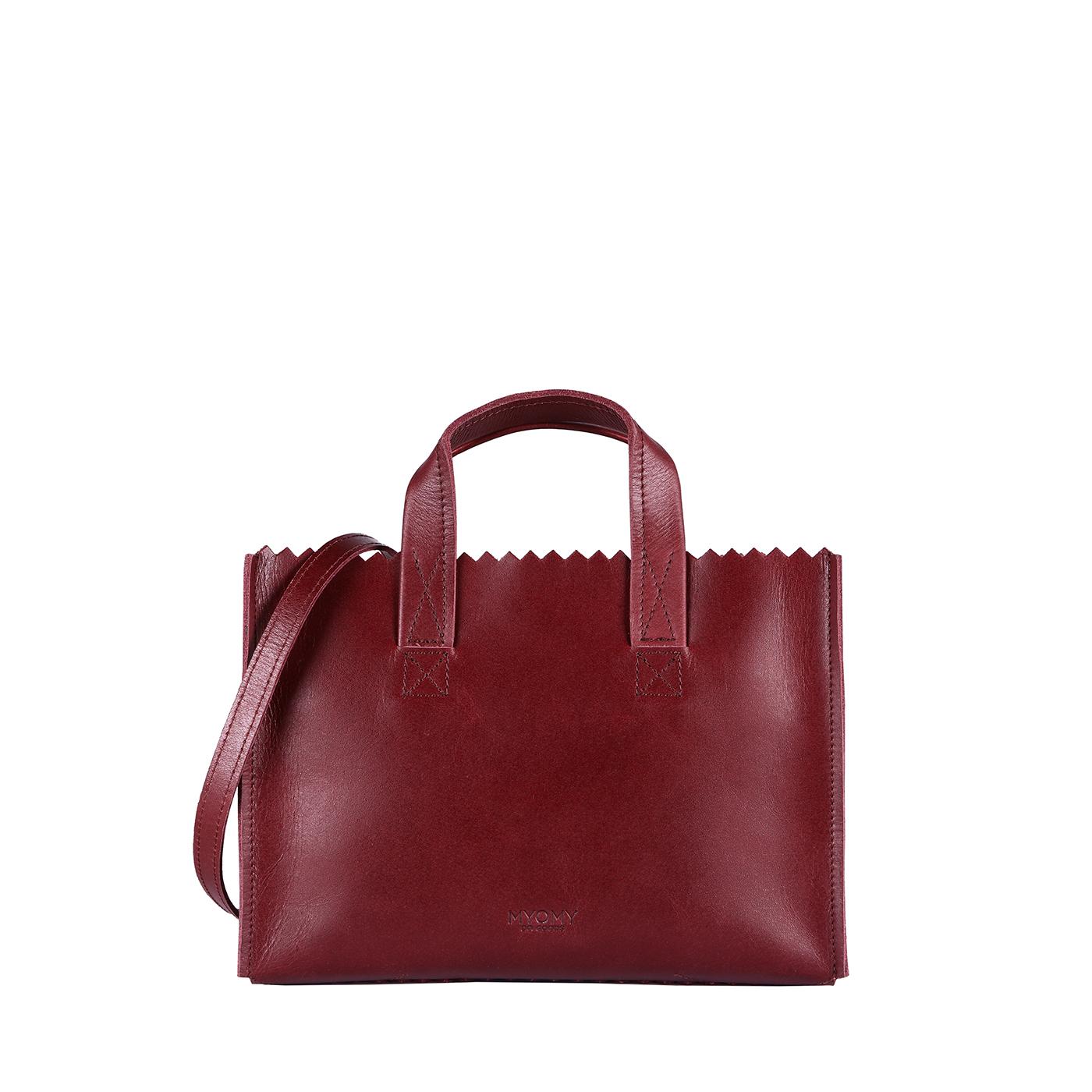 MY PAPER BAG Mini handbag cross-body - hunter waxy burgundy