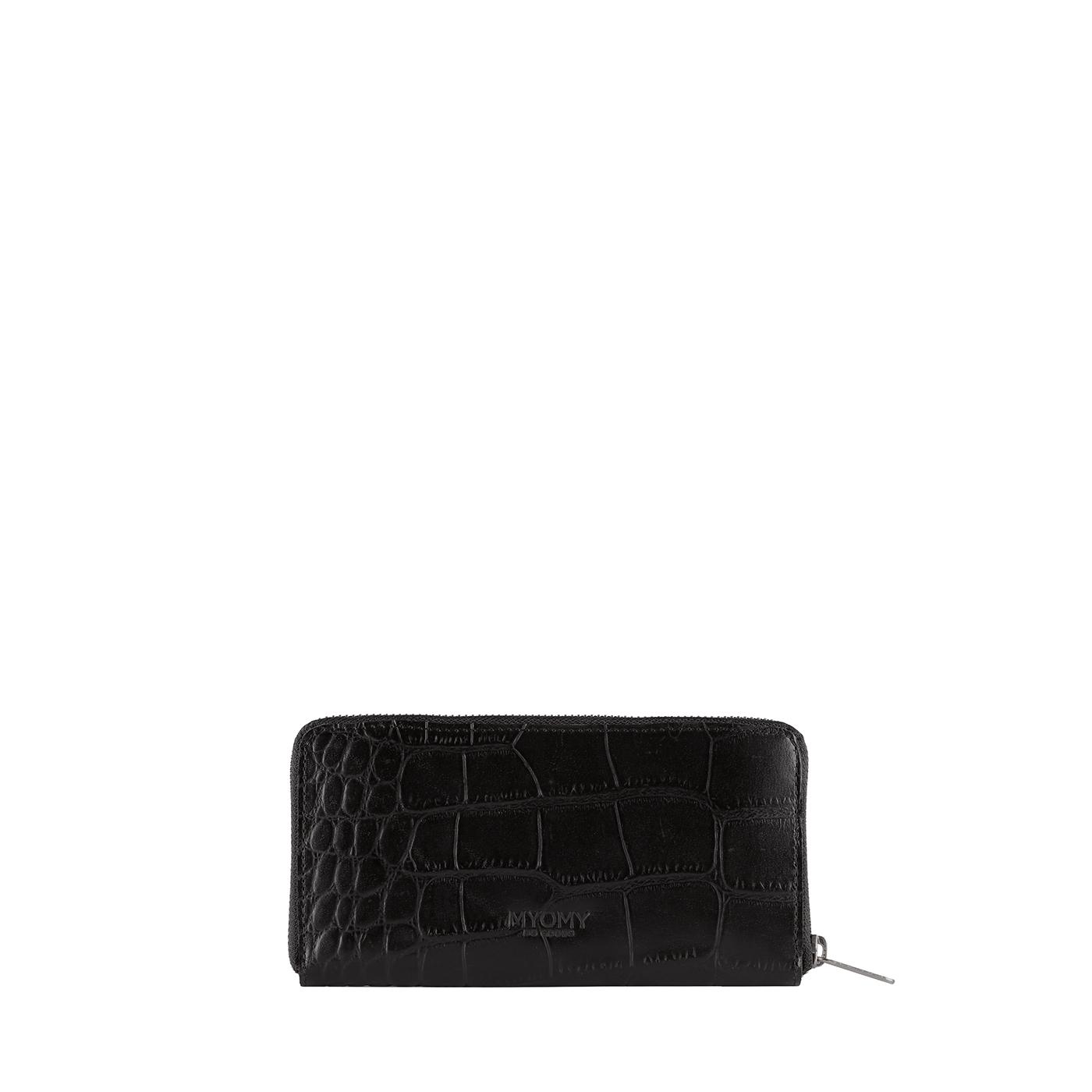 MY PAPER BAG Wallet Large - croco black