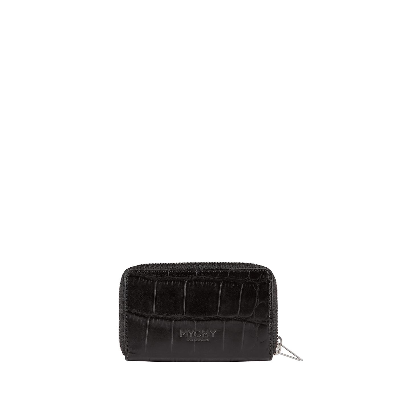 MY PAPER BAG Wallet Medium (RFID) - croco black