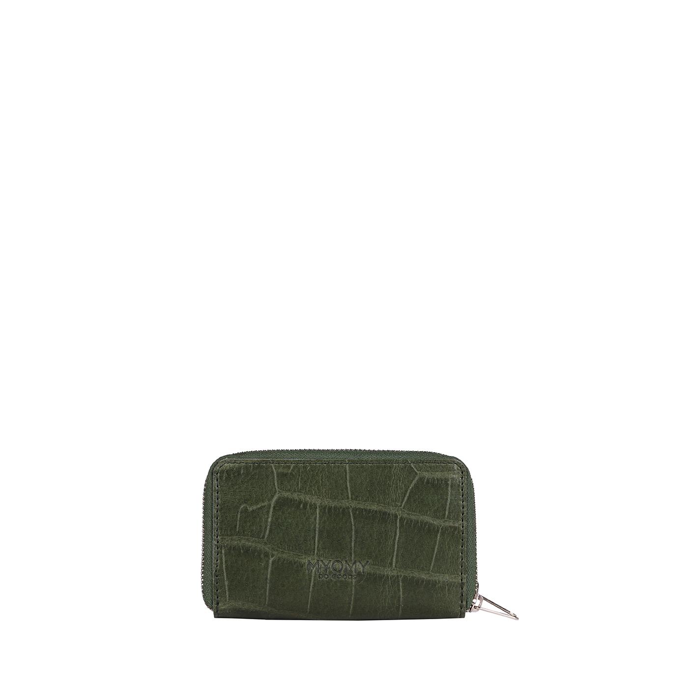 MY PAPER BAG Wallet Medium (RFID) - croco vetiver green
