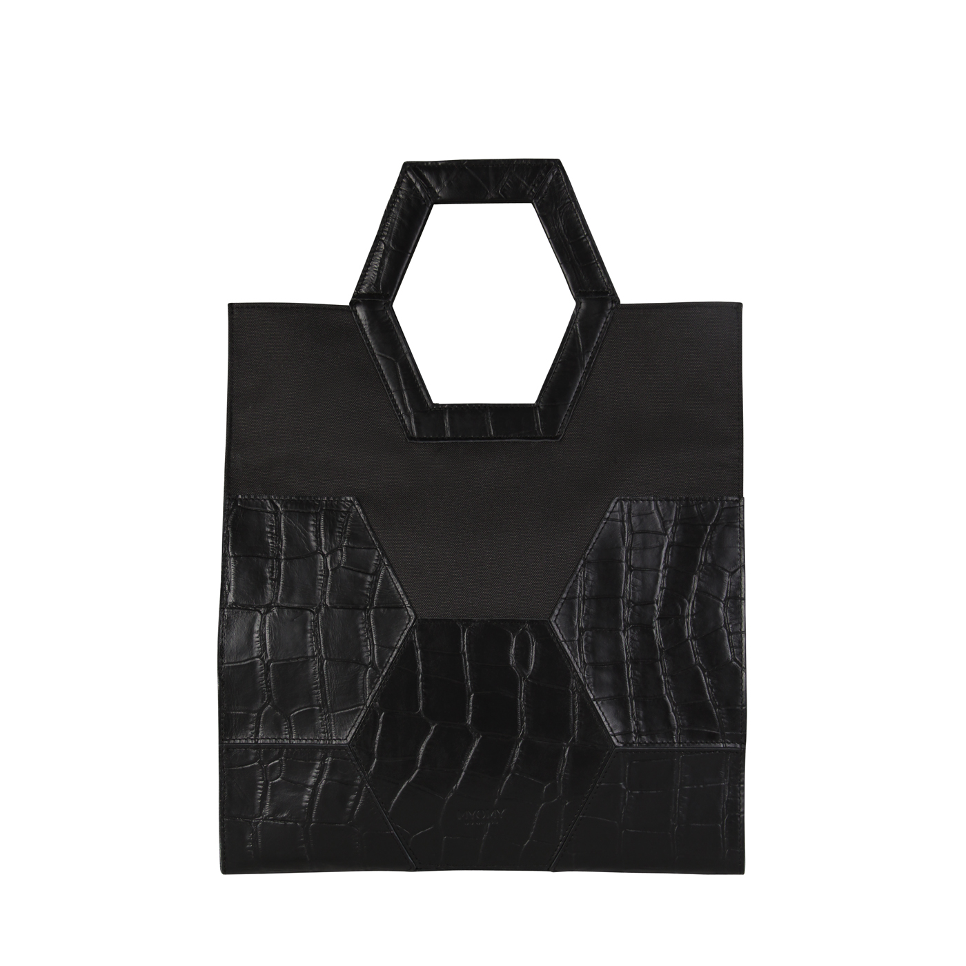 MY TREASURE BAG Shopper – croco black & recycled plastic
