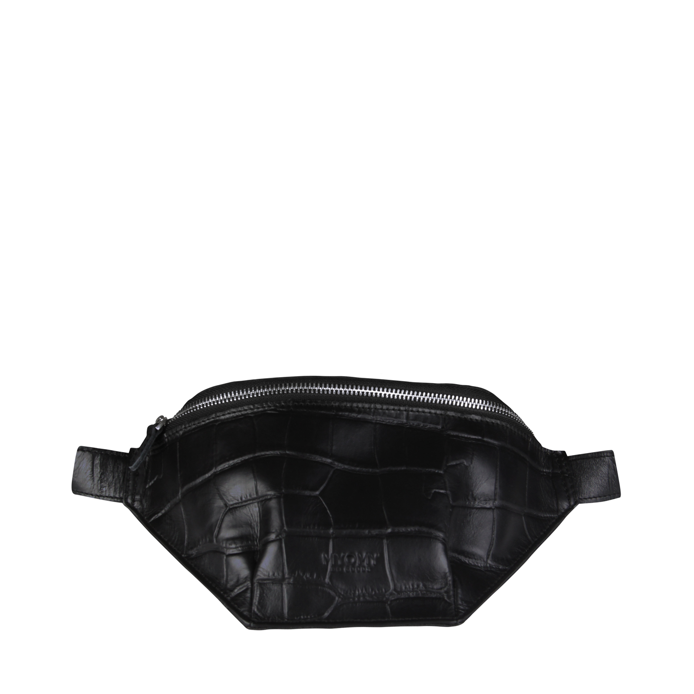 MY TREASURE BAG Waistbag - croco black & recycled plastic