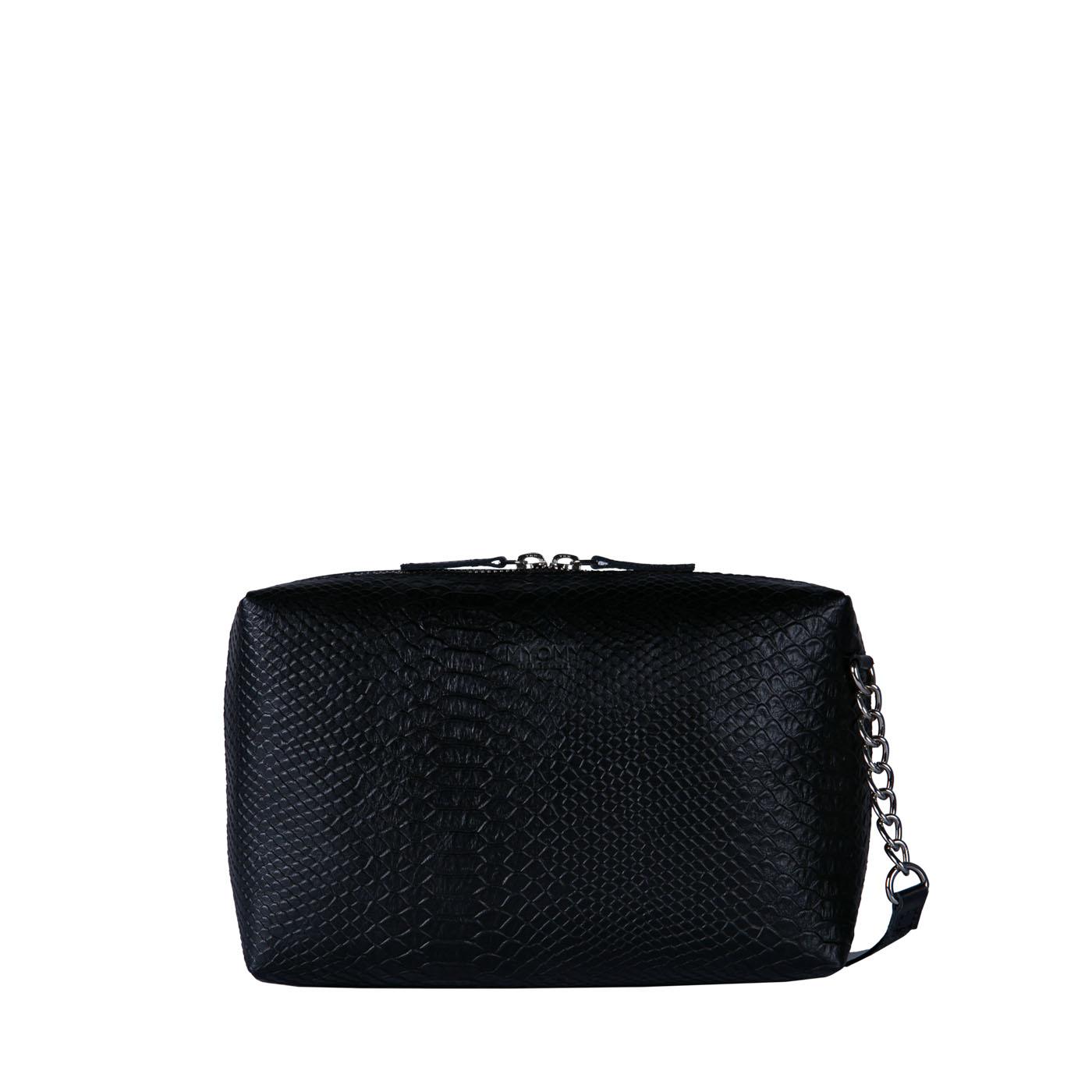 MY BOXY BAG Handbag - mix anaconda & hunter waxy black