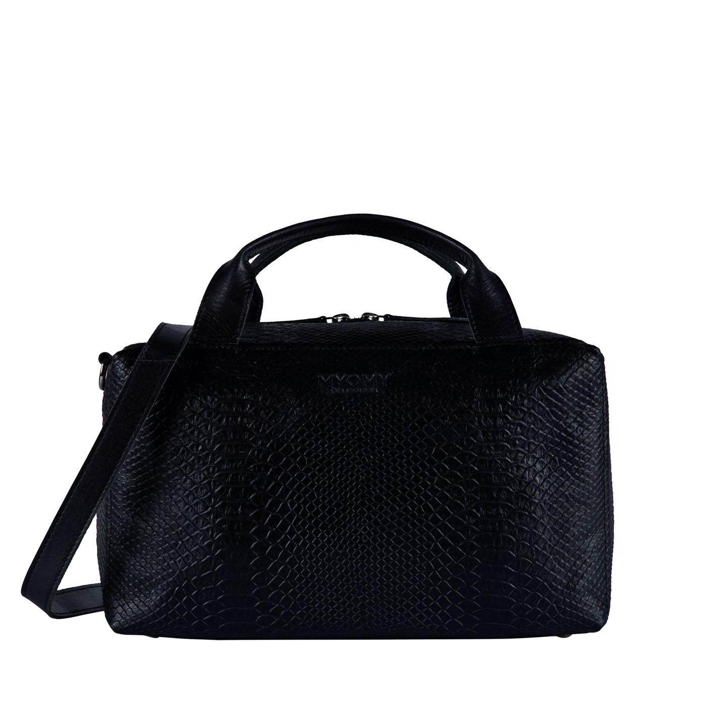 MY BOXY BAG Workbag - mix anaconda & hunter waxy black