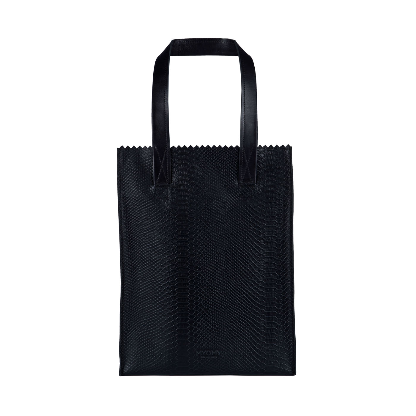 MY PAPER BAG Long handle zip – mix anaconda & waxy black
