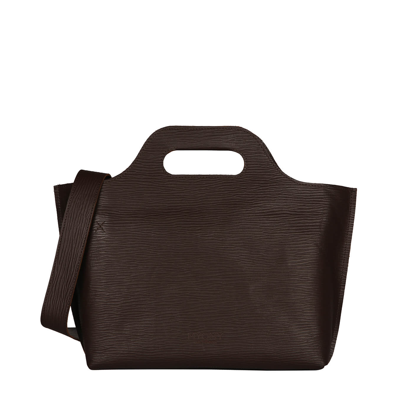 [PRE-ORDER] MY CARRY BAG Handbag – boarded dark brown