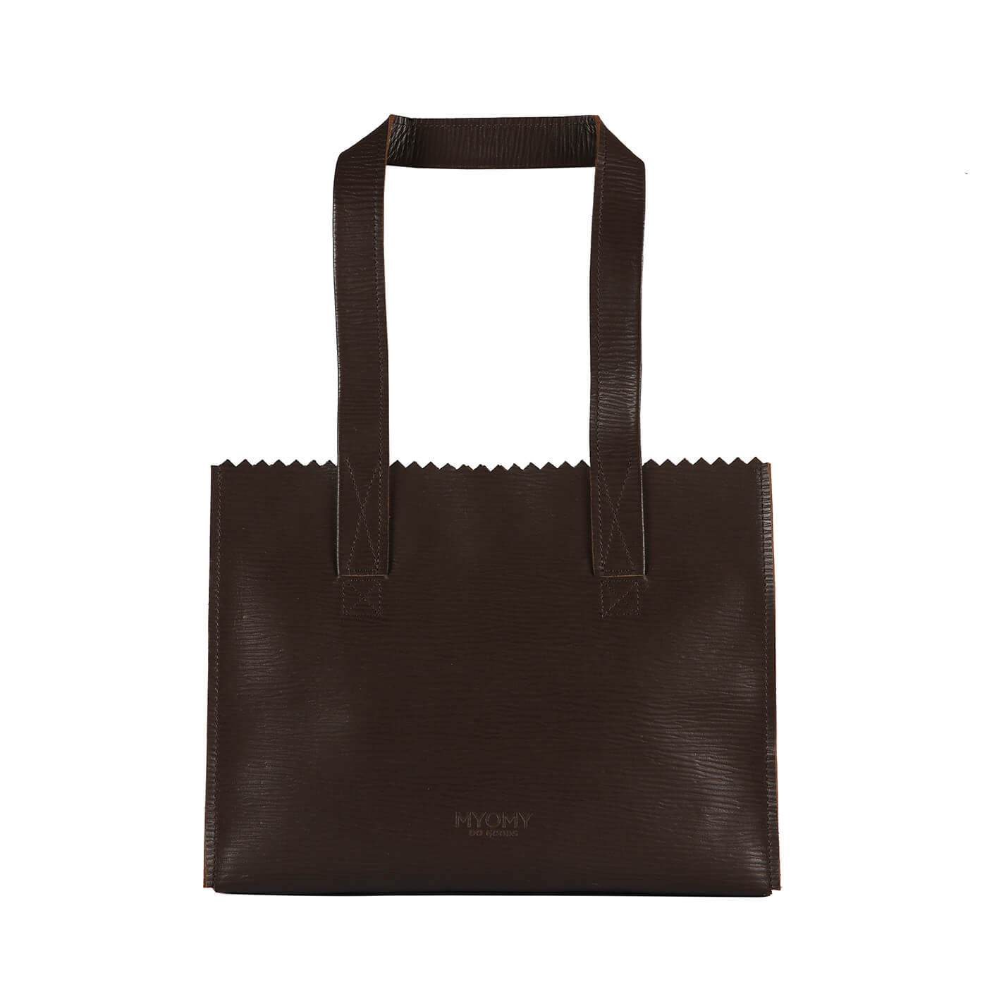 [PRE-ORDER] MY PAPER BAG Handbag – boarded dark brown