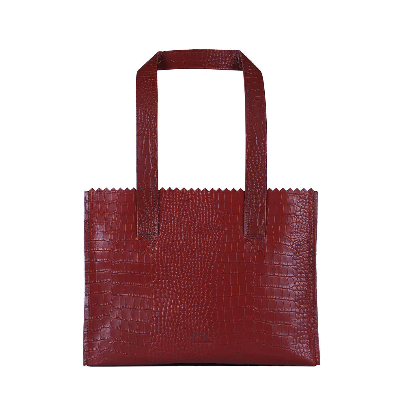 MY PAPER BAG Handbag - croco burgundy