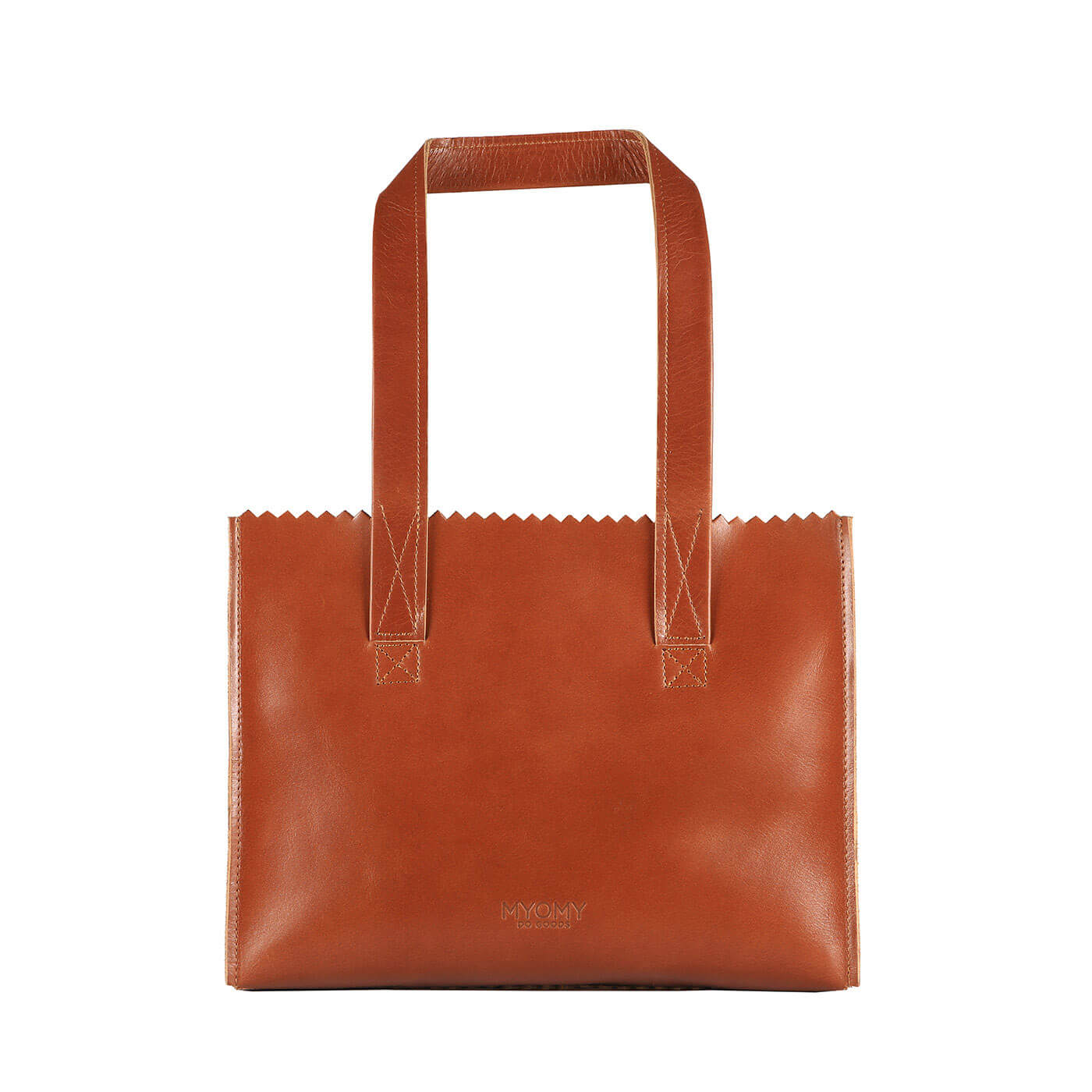 MY PAPER BAG Handbag - hunter waxy cognac