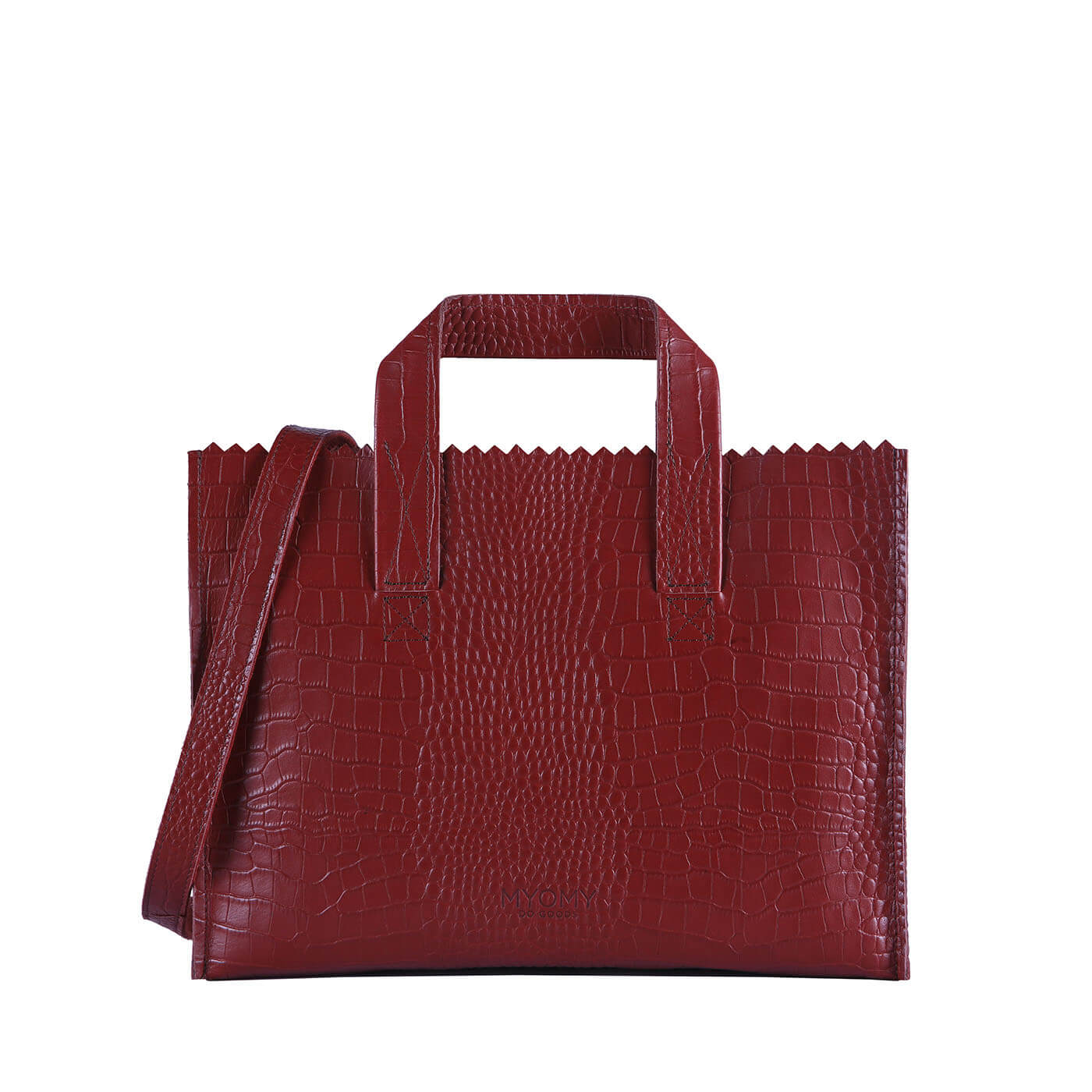[PRE-ORDER] MY PAPER BAG Handbag cross-body – croco burgundy