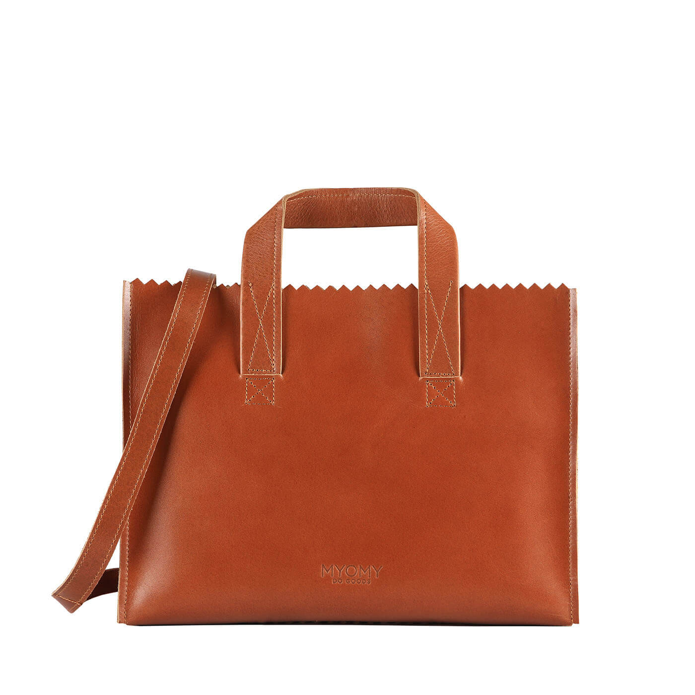 [PRE-ORDER] MY PAPER BAG Handbag cross-body – hunter waxy cognac