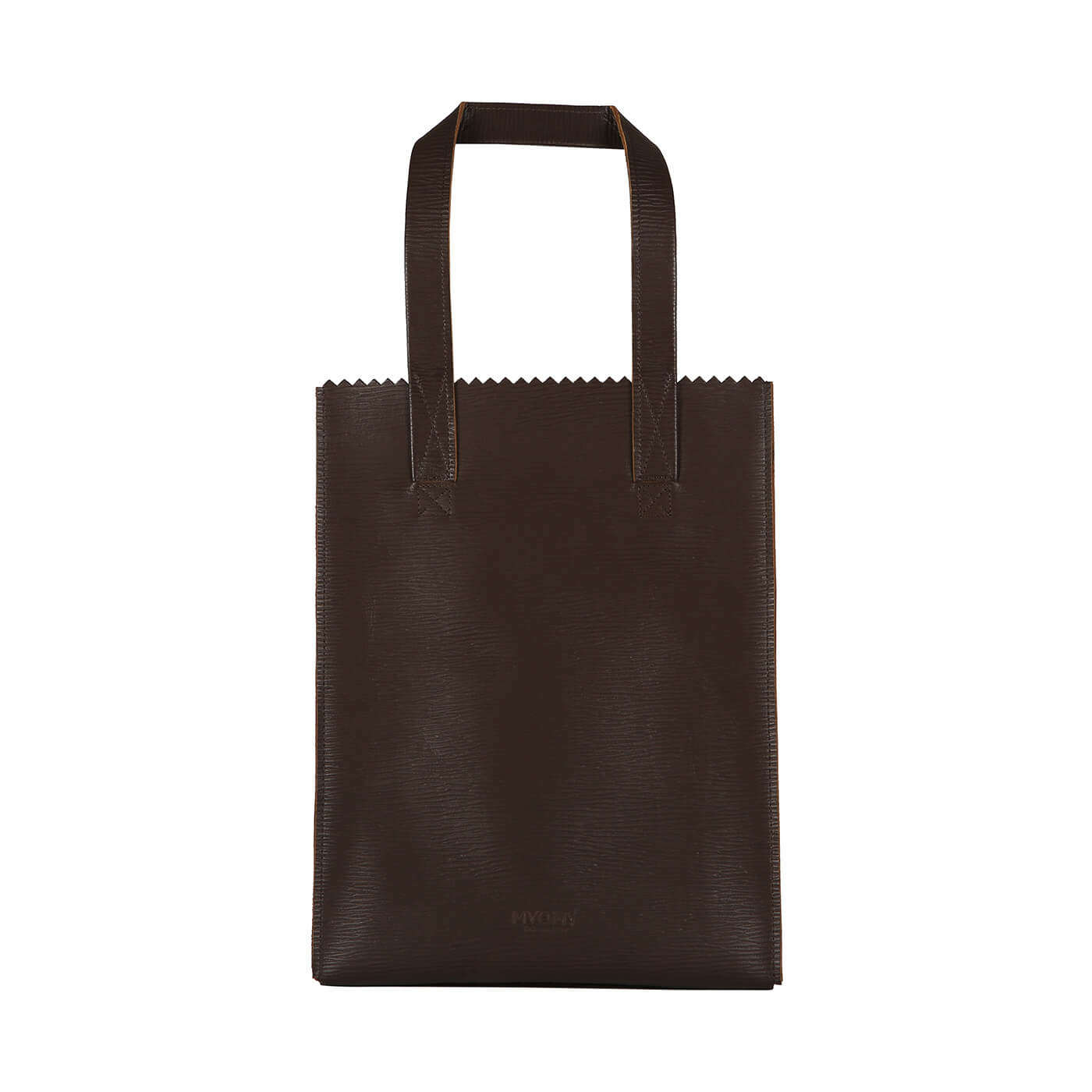 [PRE-ORDER] MY PAPER BAG Long handle zip – boarded dark brown