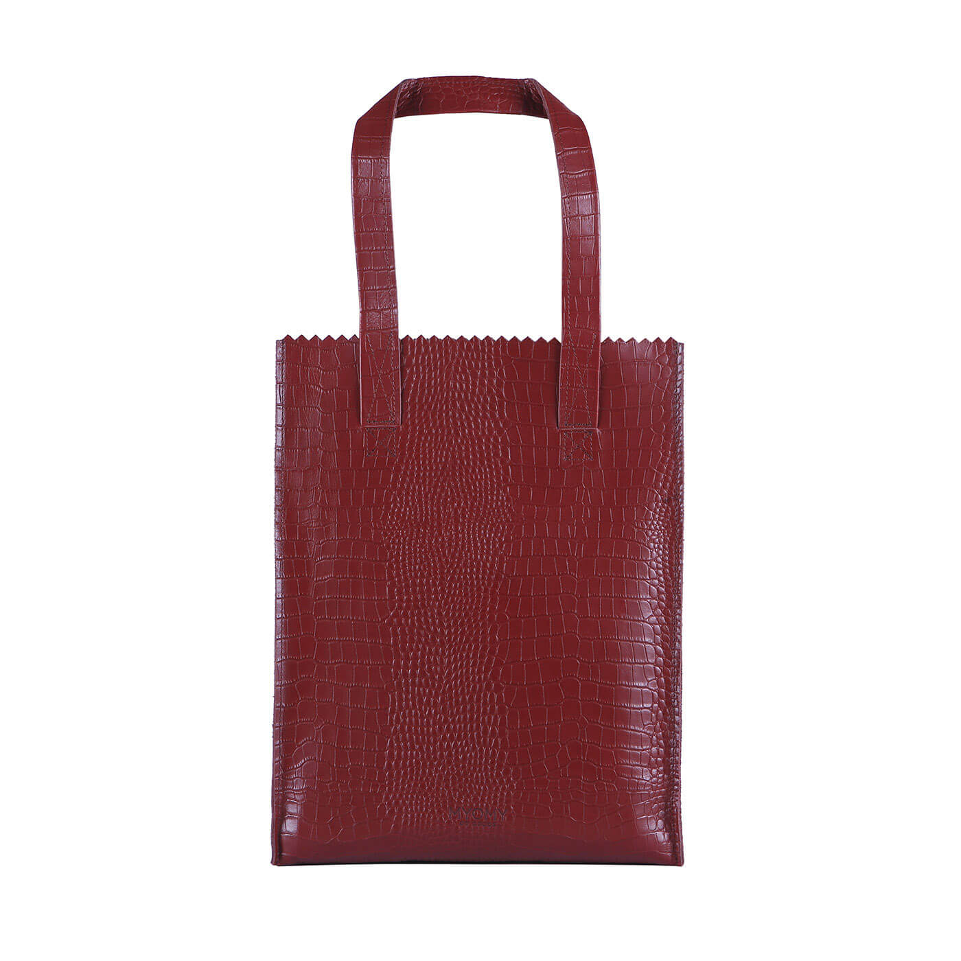 [PRE-ORDER] MY PAPER BAG Long handle zip – croco burgundy
