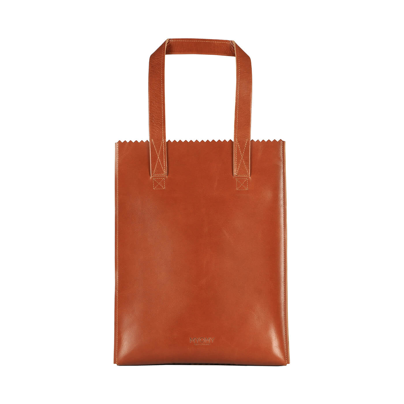 [PRE-ORDER] MY PAPER BAG Long handle zip – hunter waxy cognac