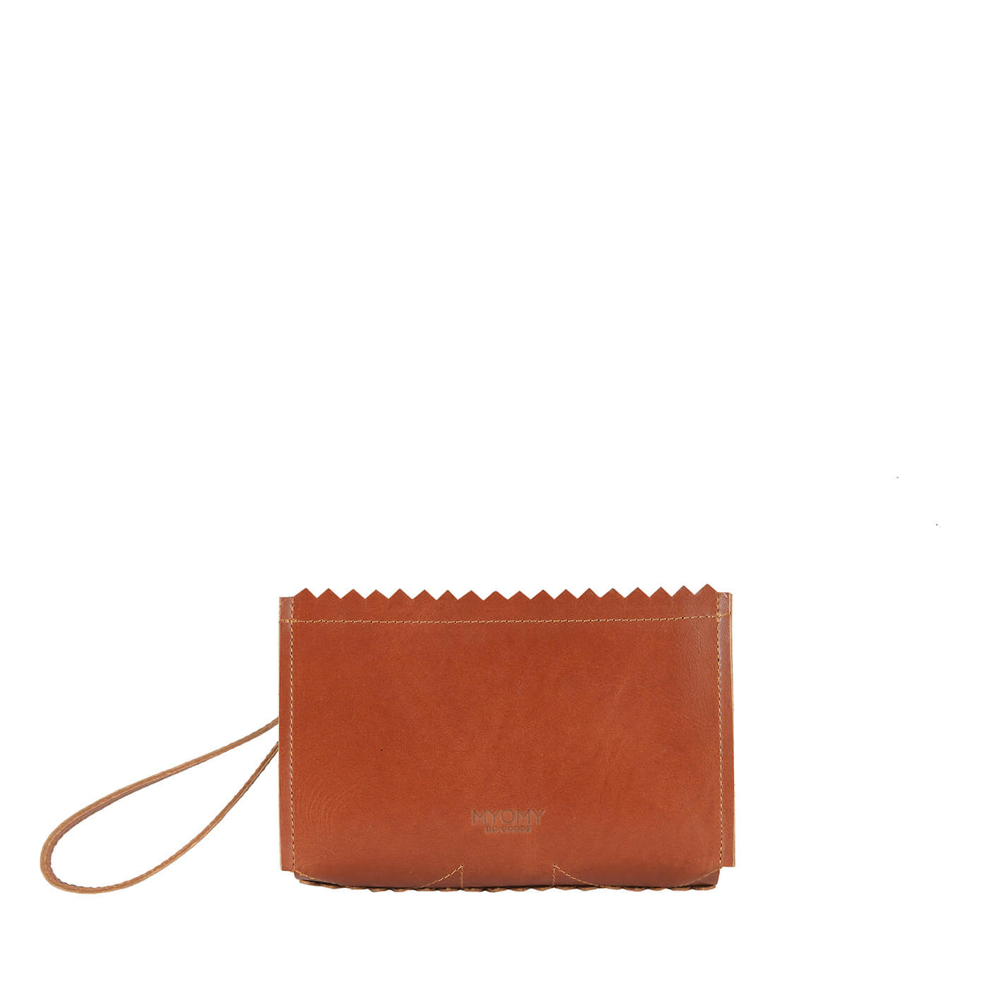 [PRE-ORDER] MY PAPER BAG Make-up bag – hunter waxy cognac