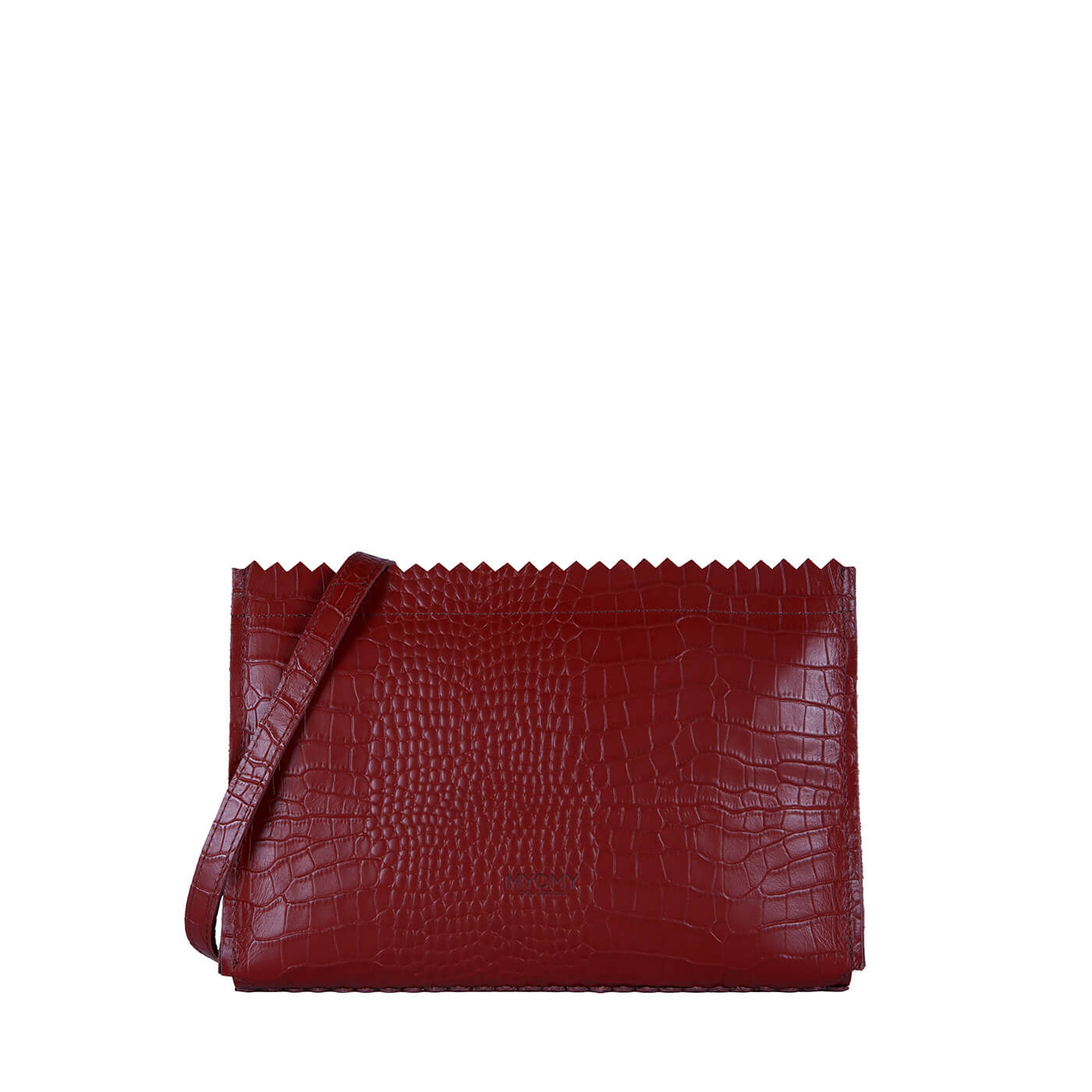 [PRE-ORDER] MY PAPER BAG Mini – croco burgundy