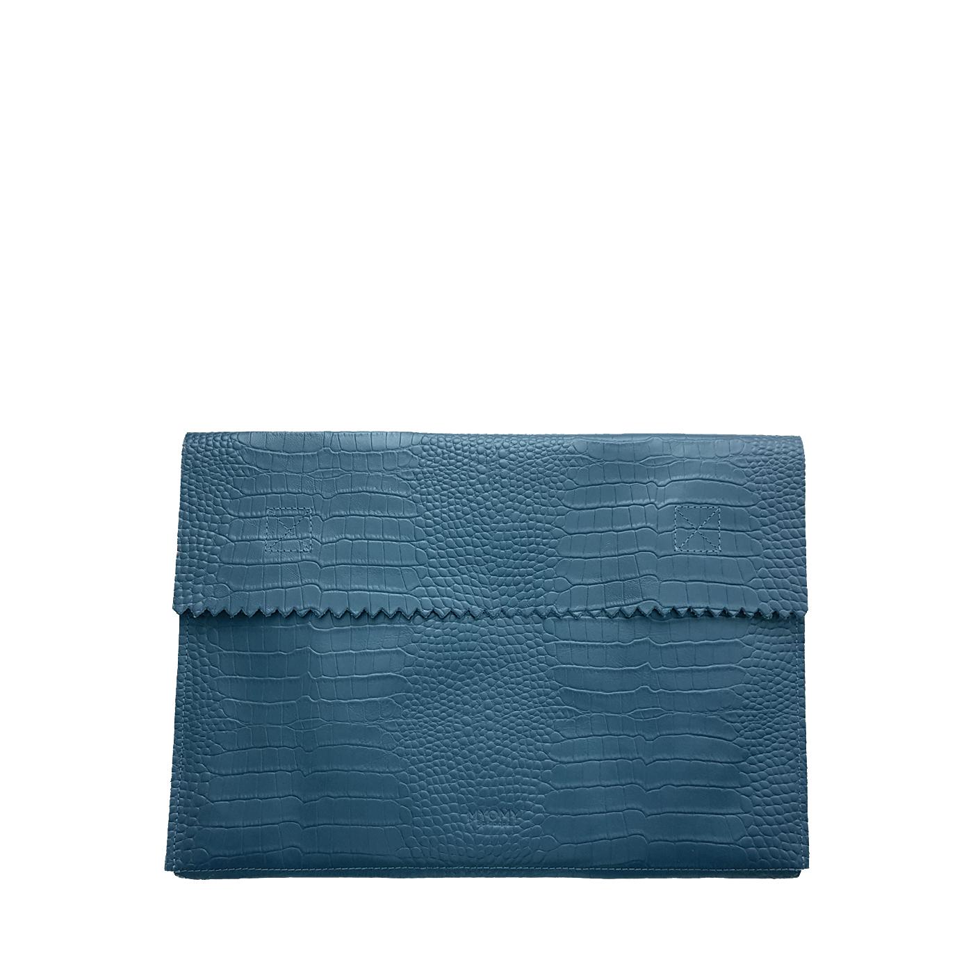 MY PAPER BAG Laptop sleeve - croco denim blue