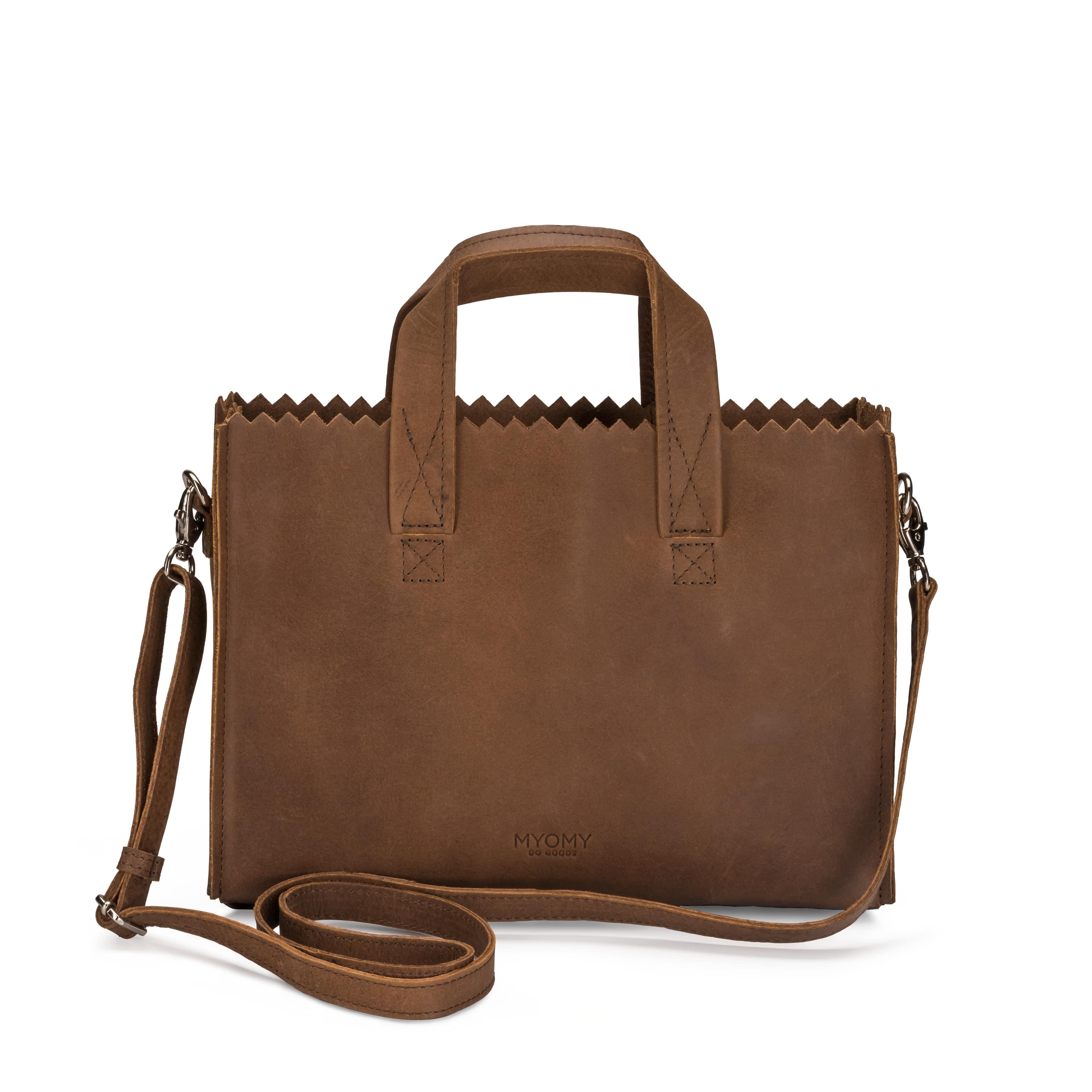 MY PAPER BAG Mini handbag cross-body  - hunter original