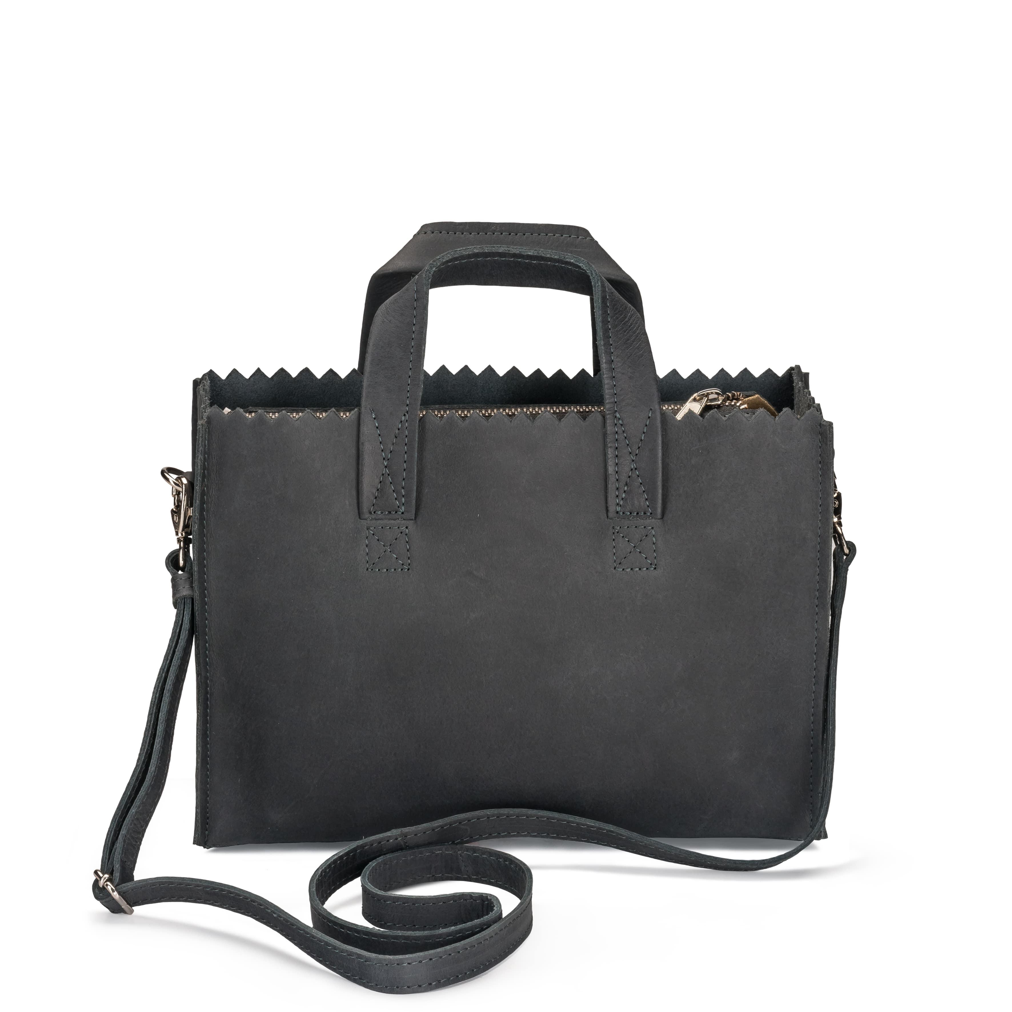 MY PAPER BAG Mini handbag cross-body - hunter off-black