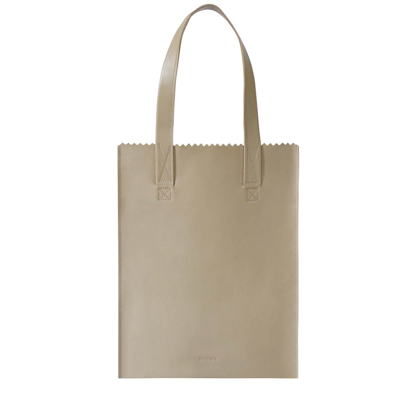 MY PAPER BAG Long handle zip – sand