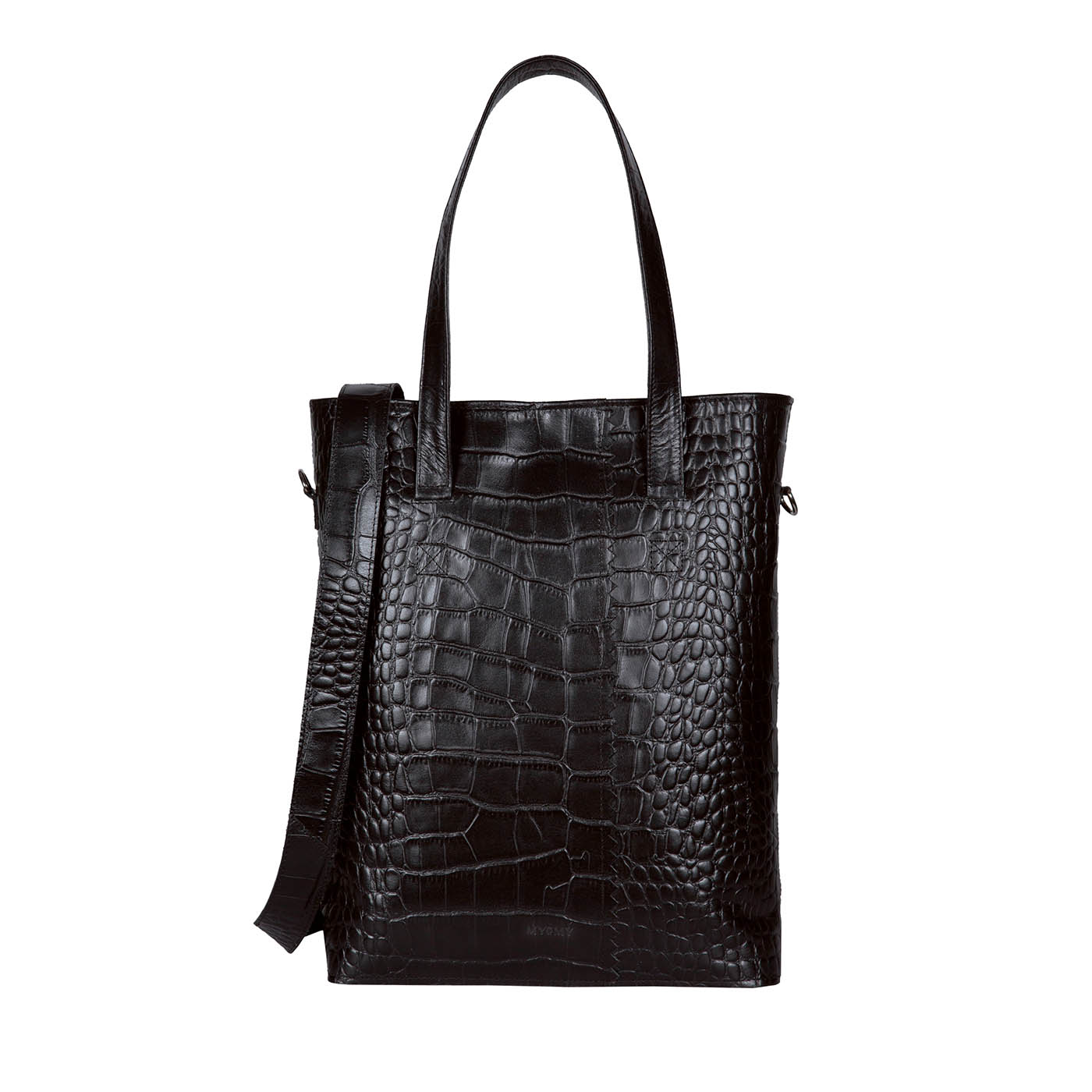 MY PAPER BAG Wrapped Office – croco black