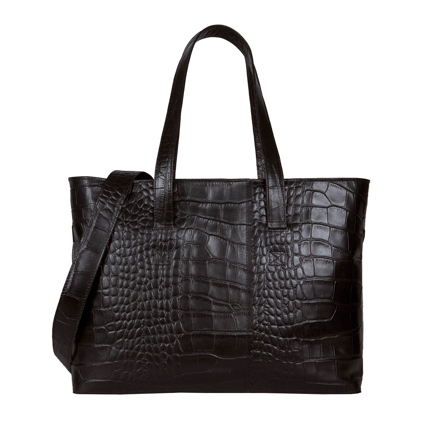 MY PAPER BAG Wrapped Workbag - croco black