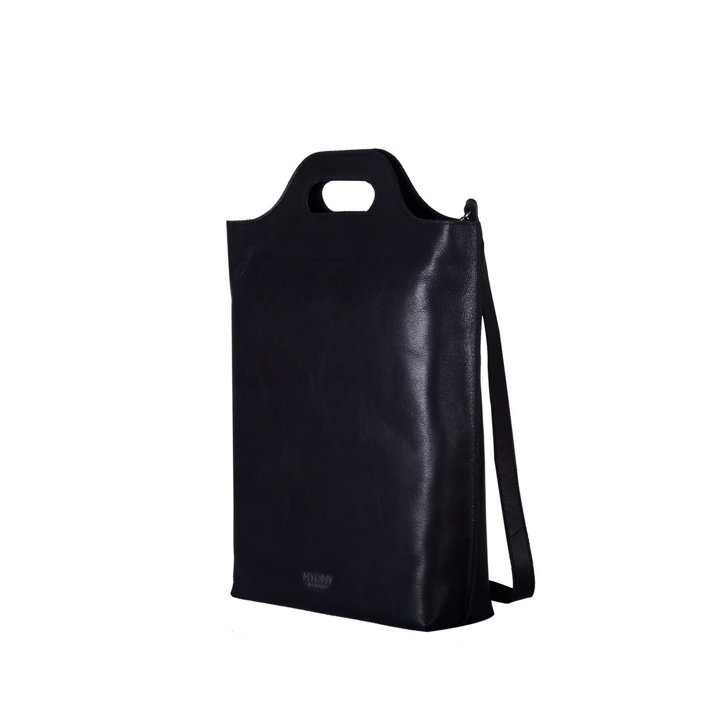 BAG CARRY waxy MY black MYOMY hunter Shopper wq5HOdxOI