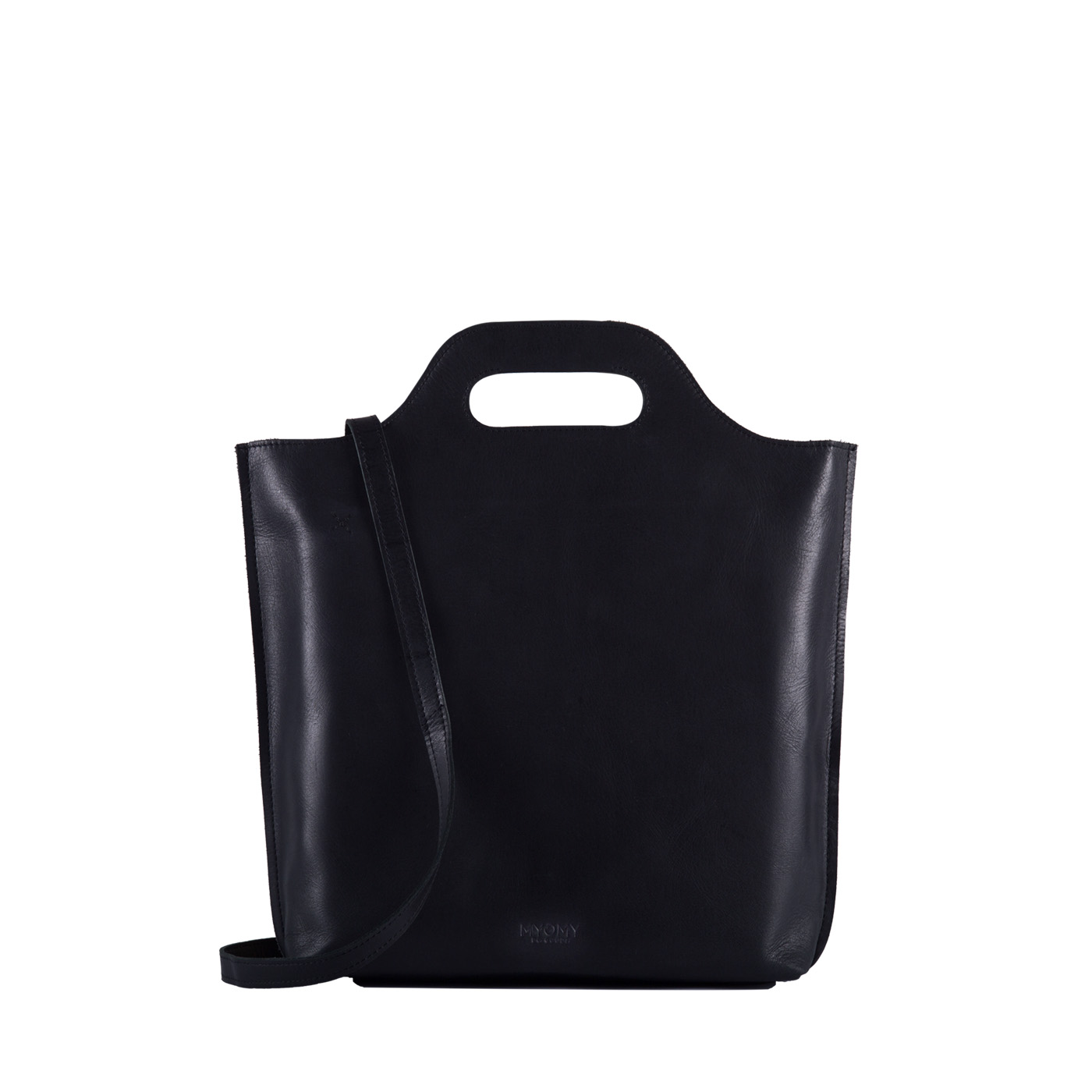 MY CARRY BAG shopper medium- hunter waxy black