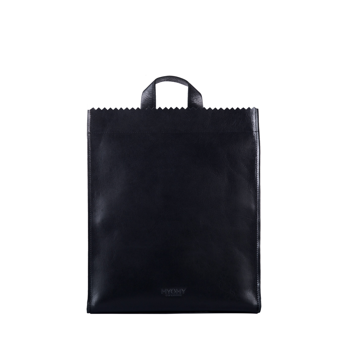 MY PAPER BAG Back bag – hunter waxy black