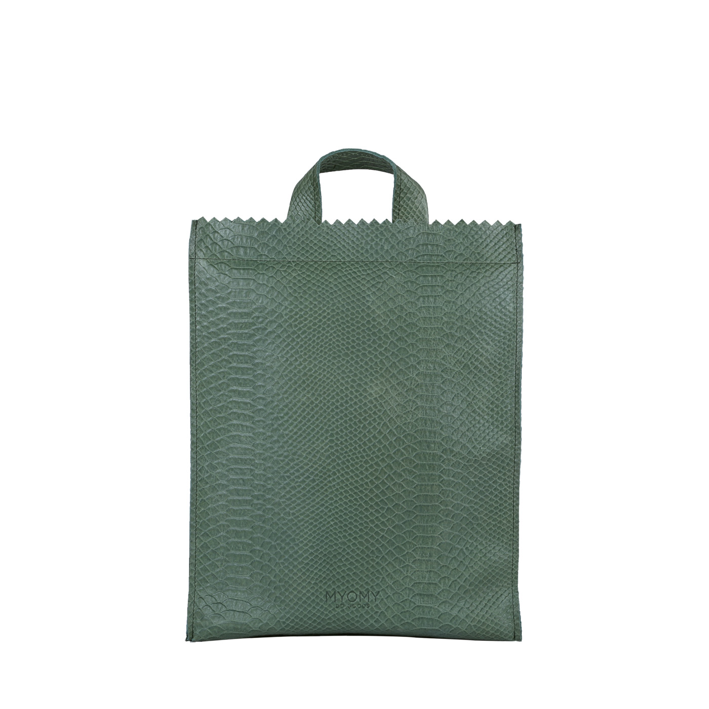 MY PAPER BAG Backbag medium - anaconda sea green