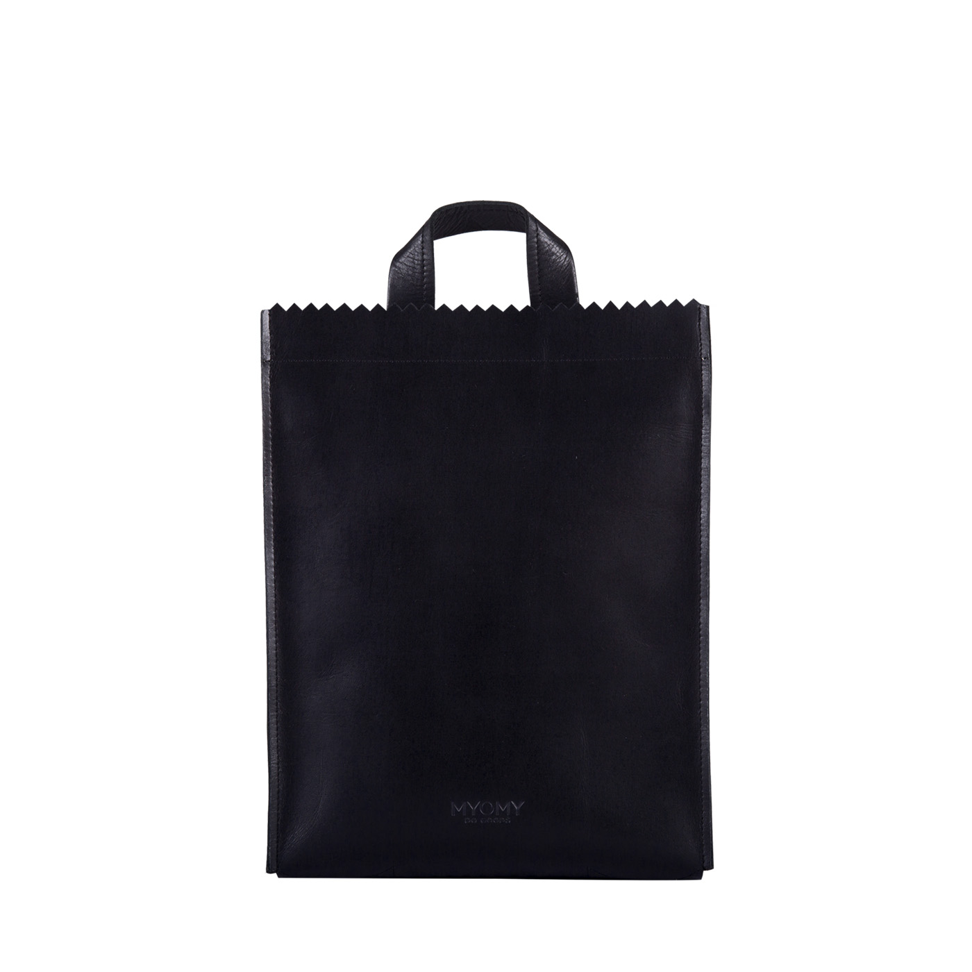 MY PAPER BAG Backbag medium – hunter waxy black