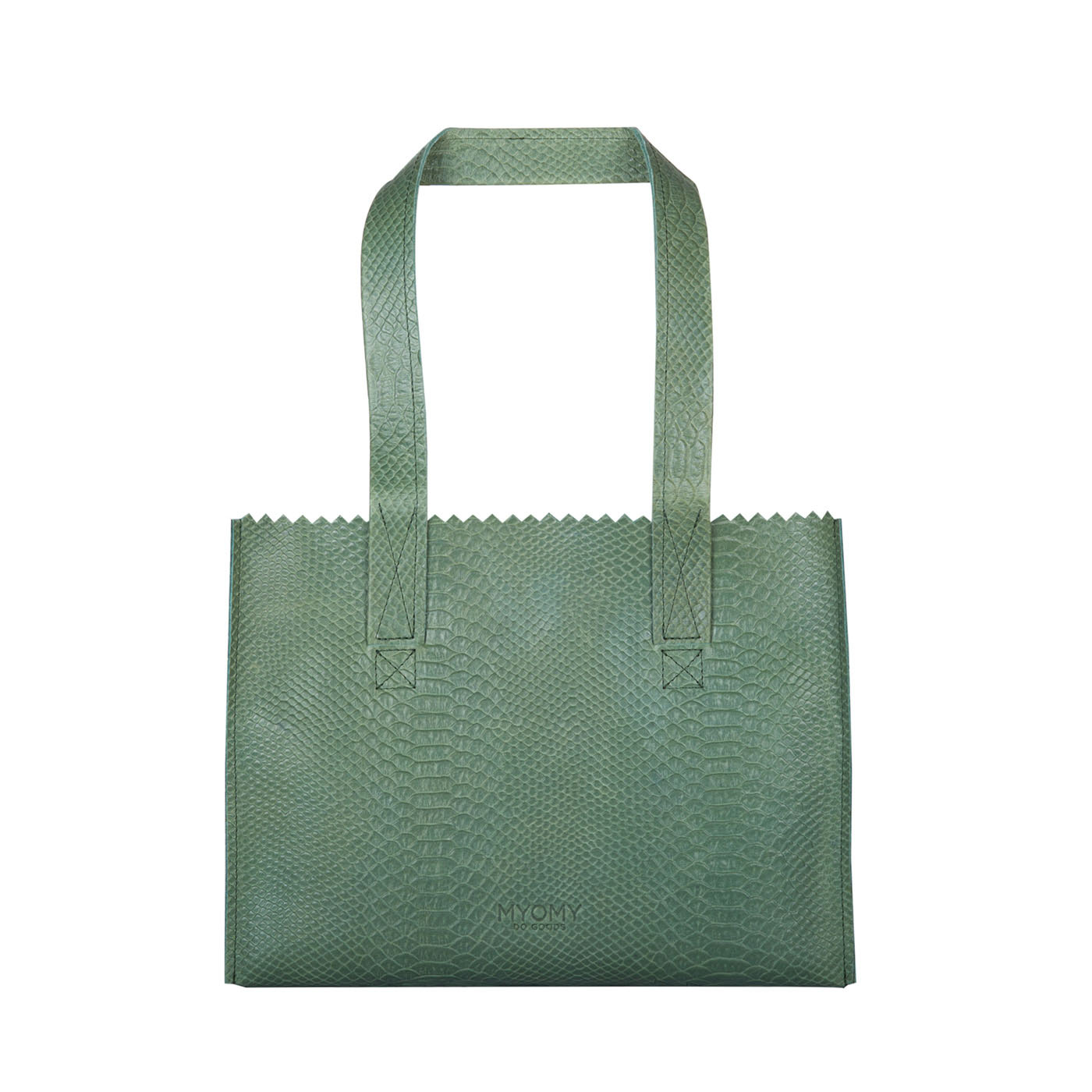 MY PAPER BAG Handbag – anaconda sea green
