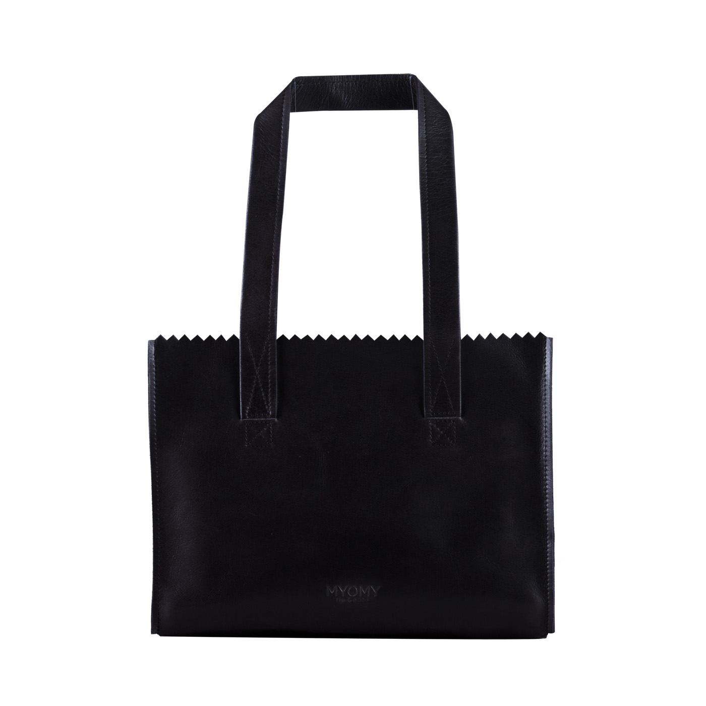 MY PAPER BAG Handbag – hunter waxy black