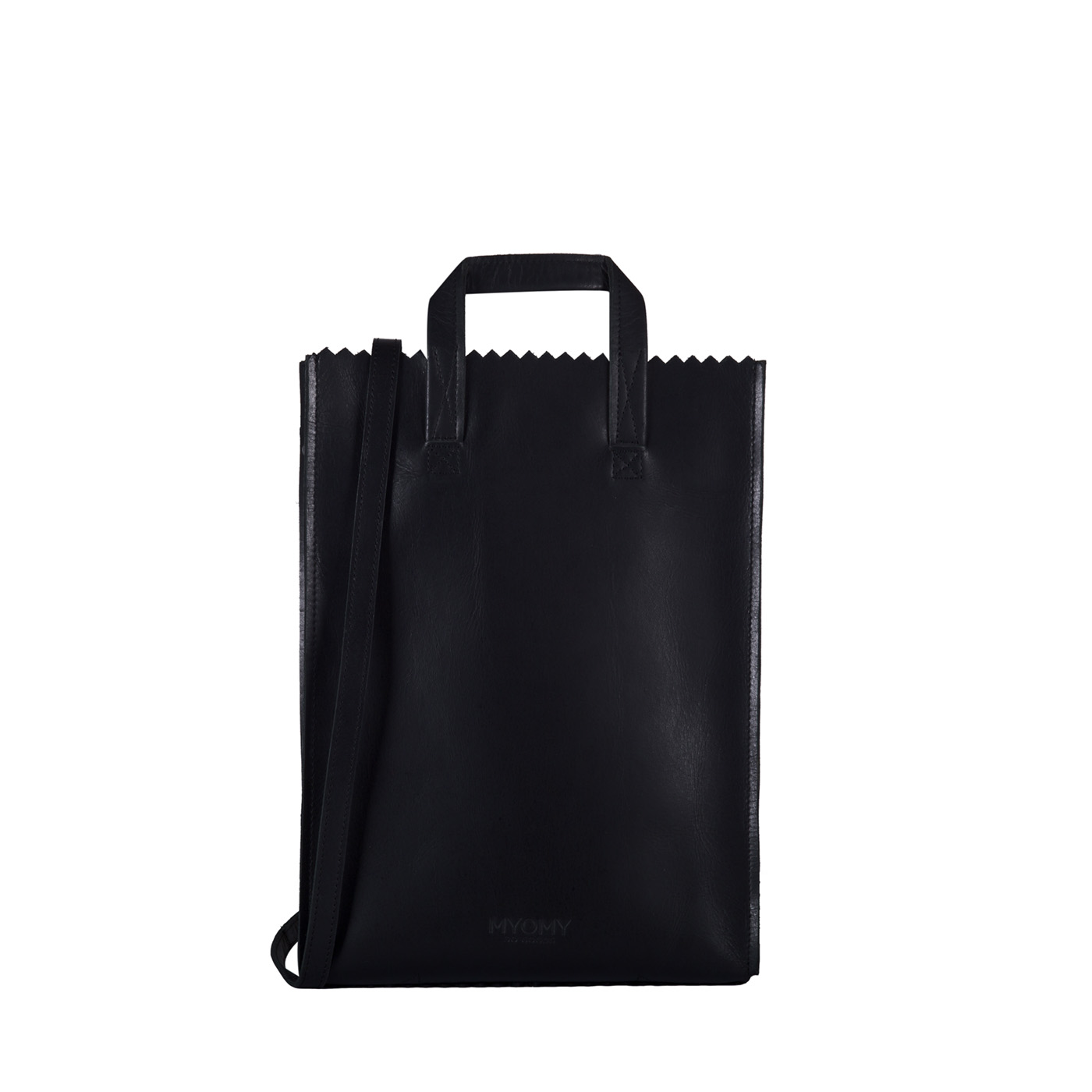 MY PAPER BAG Handy short handle - hunter waxy black