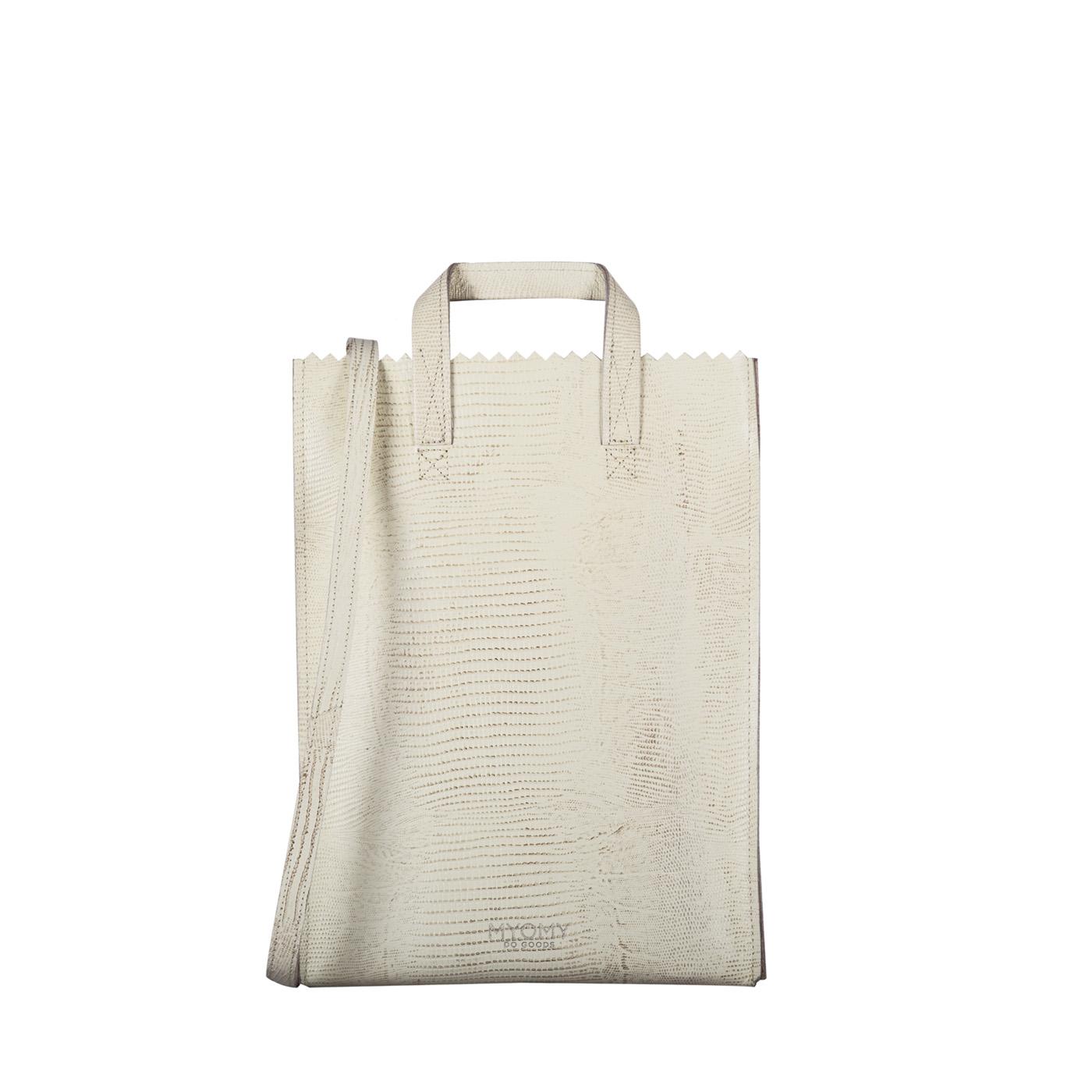 MY PAPER BAG Handy short handle – lizard desert