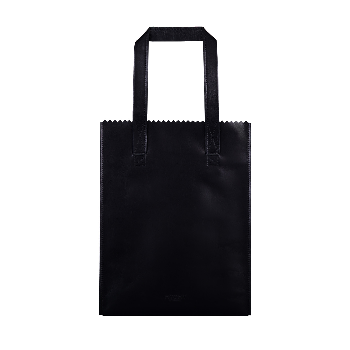 MY PAPER BAG Long handle zip	– hunter waxy black